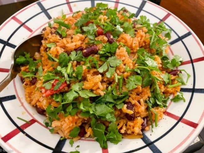 Riz à la tomate et aux haricots