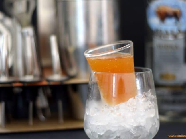 Cocktail Shot de Vodka infusée au thé et manzana