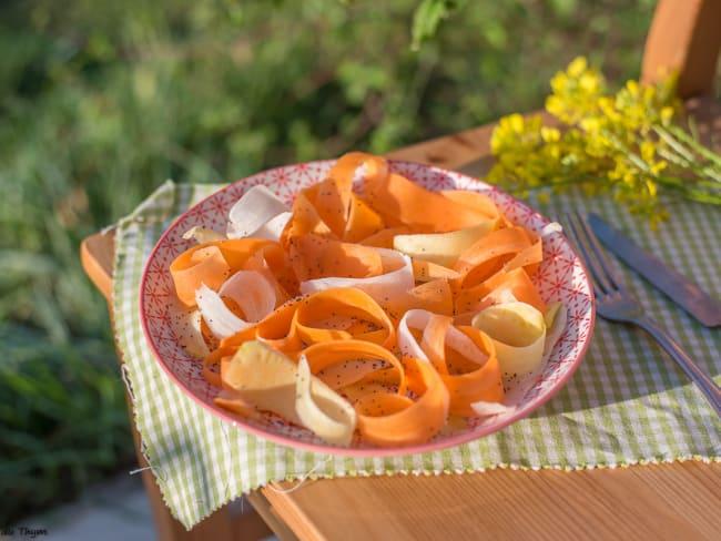 Salade de carottes aux graines de pavot
