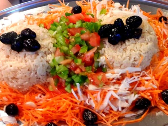 Salade de riz marocaine et vinaigrette à la moutarde