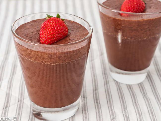 Crème au chocolat et graines de chia