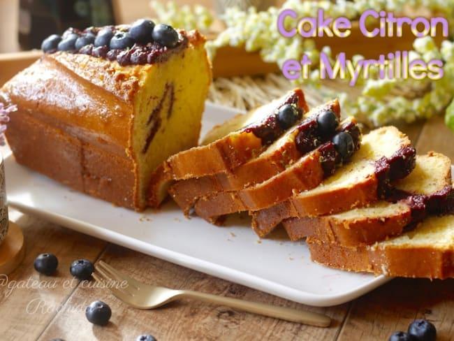 Cake au citron et aux myrtilles