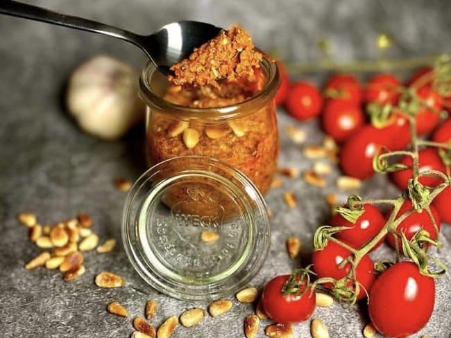 Pesto rouge aux tomates