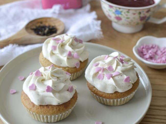 Cupcakes de St Valentin au thé des Amoureux