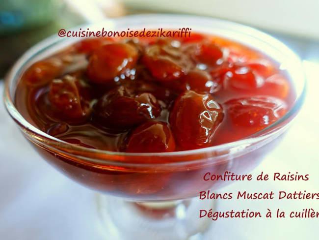 Confiture de raisin dattier muscat à la fleur d'oranger