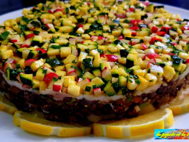 Salade d'effiloché de raie