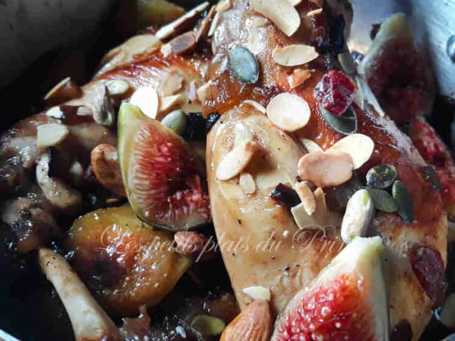 Cuisses de lapin en sucré salé avec des figues et du miel