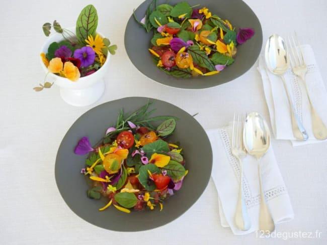 Salade de tomate aux herbes