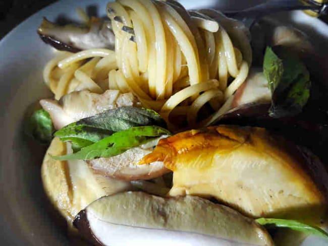 One pot pasta vegetal aux champignons des bois