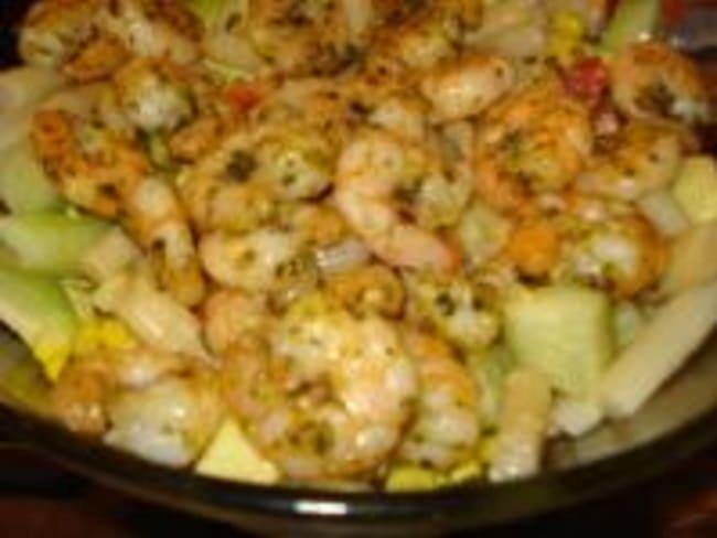 Salade de Crevettes et Concombres