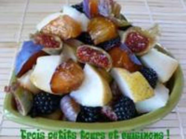 Salade de Fruits d'Automne au Sirop de Sureau