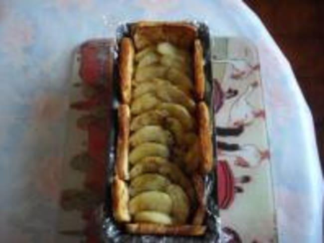 Terrine de Rhubarbe, Pommes et Pain Perdu