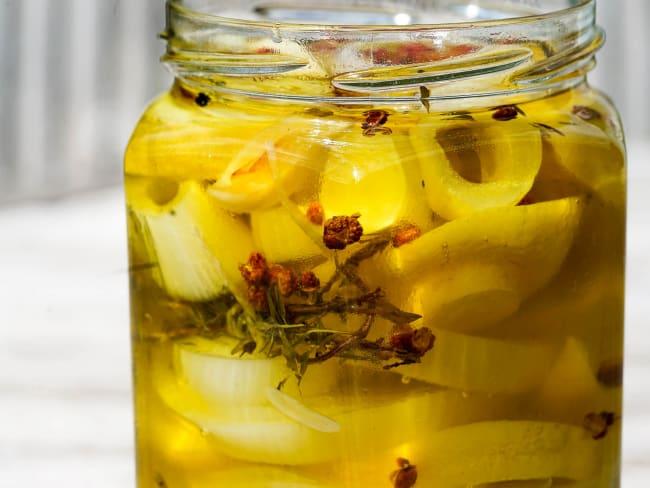 Achards de citrons et gingembre