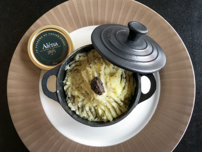 Ecrasé de pommes de terre et topinambours à la truffe