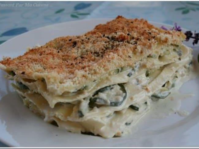Lasagnes aux courgettes et au basilic