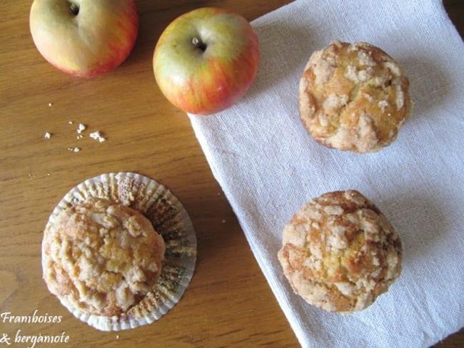 Muffins croustillants aux pommes et à la cannelle