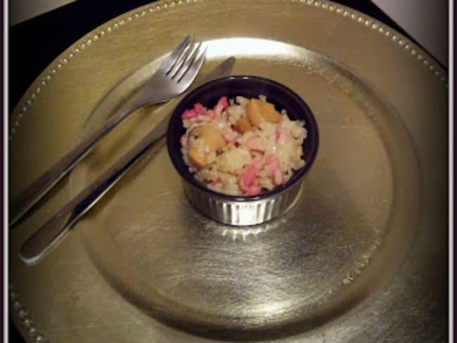 Risotto champignons et lardons