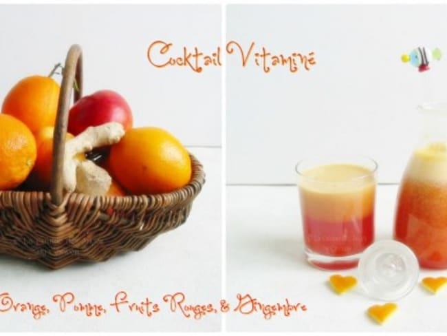 Cocktail Vitaminé Orange, Pomme, Fruits Rouges et Gingembre