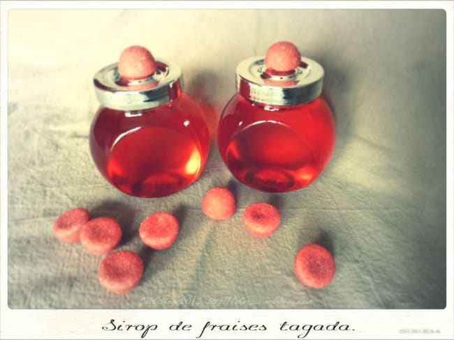 Sirop de fraises tagada© maison