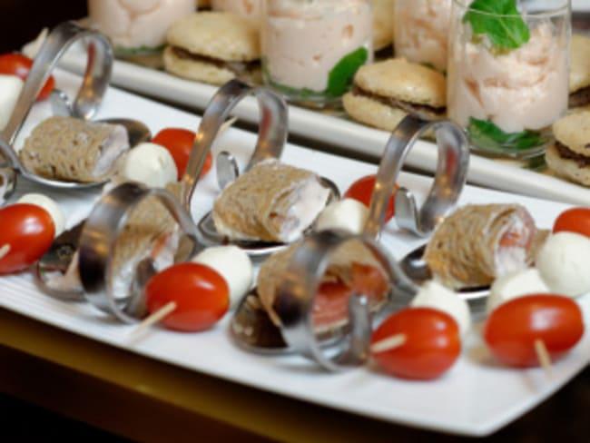 Galettes au saumon, aneth et gelée de groseilles façon Makis