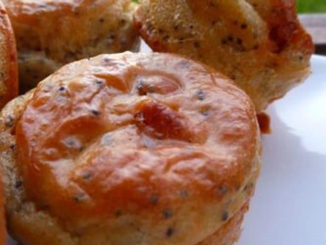 Muffins au chorizo et Graine de Pavot