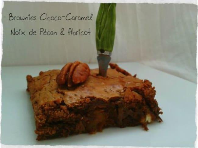 Brownies Choco-Caramel Abricot-Noix de Pécan