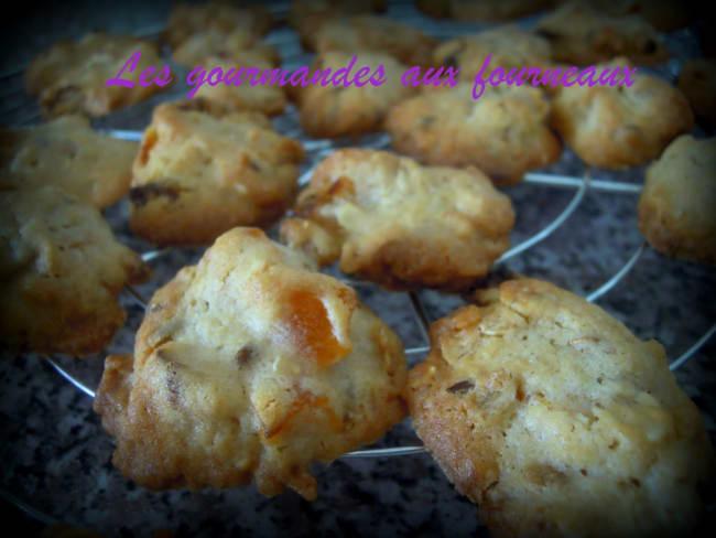 Cookies aux flocons d'avoines et abricots secs