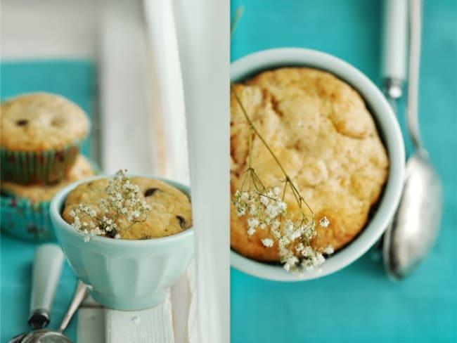 Muffins aux pommes et pépites de chocolat