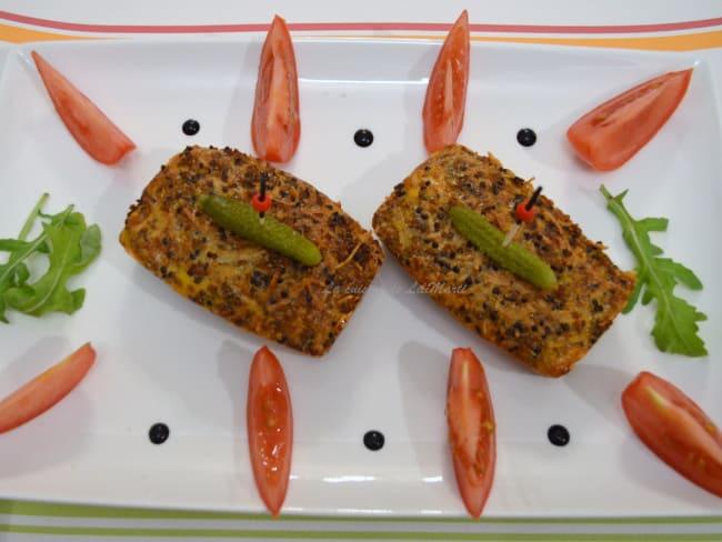 Terrine de quinoa aux tomates, fromage frais et olives