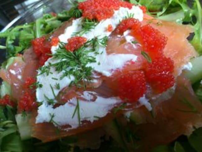 Fraîcheur de saumon fumé