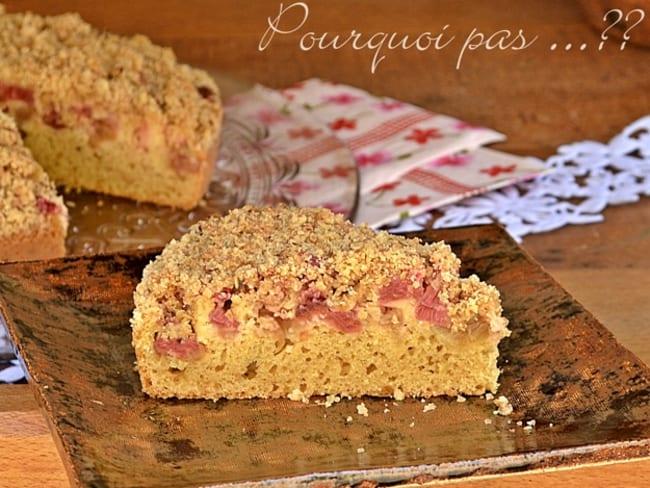 Gâteau à la rhubarbe / crumble flocons d'avoine