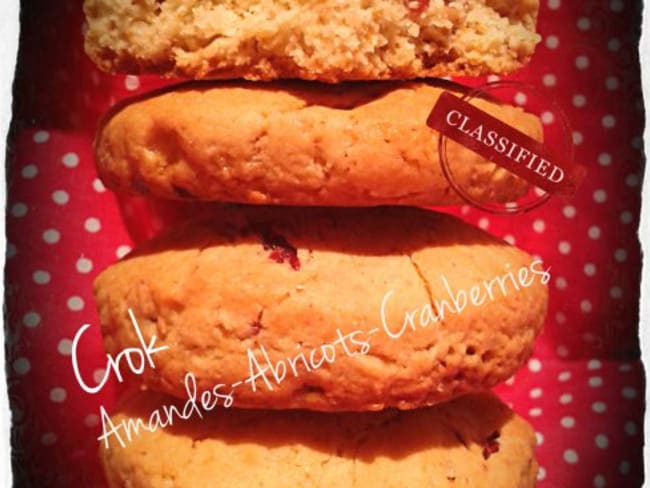 Biscuits Cranberries-Abricots et Fèves Tonka