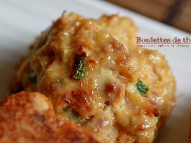 Boulettes de thon aux épices et fromage frais