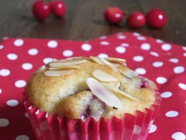 Muffins aux cerises et kirsch sans beurre à la compote