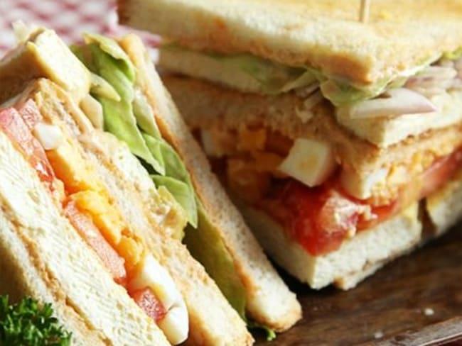 Club sandwich végétarien