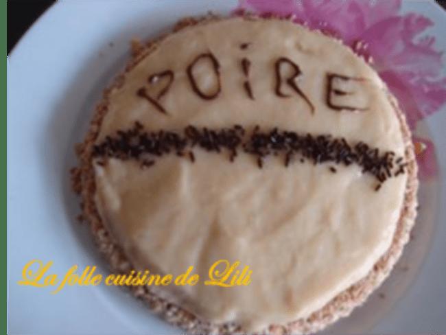 Tarte patissière à la poire et pate croustillante au chocolat blanc