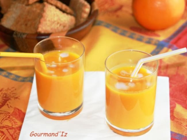 Velouté de carottes, coco orange gingembre
