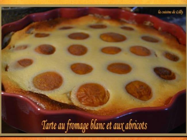 Tarte au fromage blanc et aux abricots