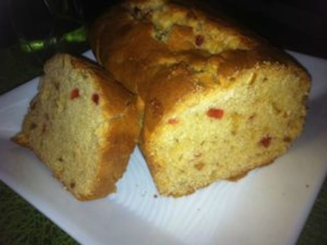 Cake aux fruit confits miel et vanille