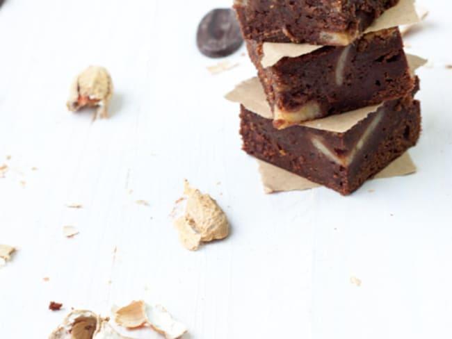 Brownie Chocolat/Bananes et Beurre de Cacahuètes