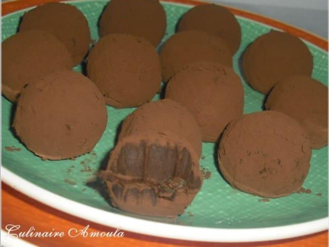 Truffes au chocolat et orange confite