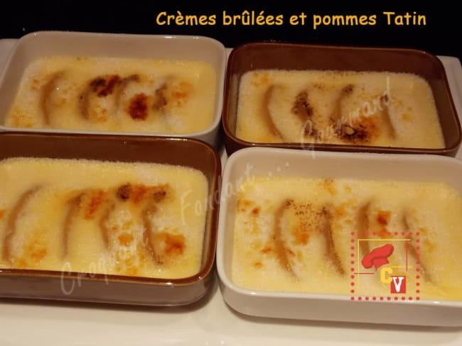 Crèmes brûlées et pommes Tatin