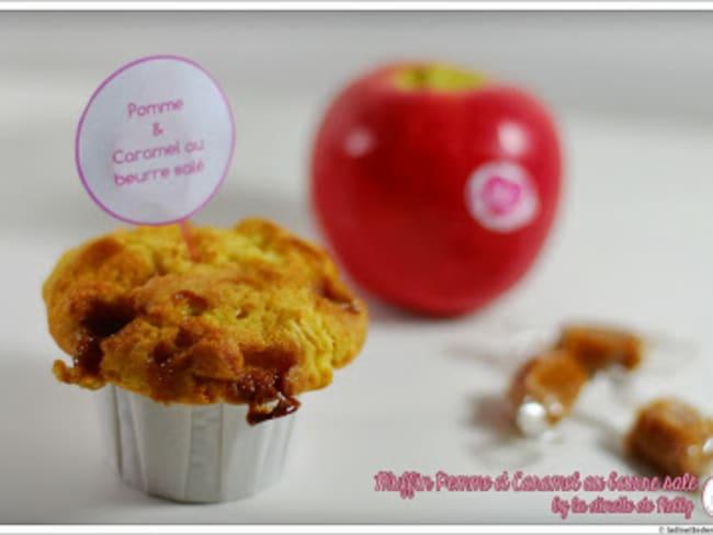 Muffin pomme et caramel au beurre salé