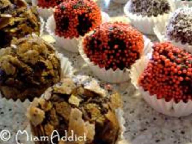 Boules de Noël au chocolat
