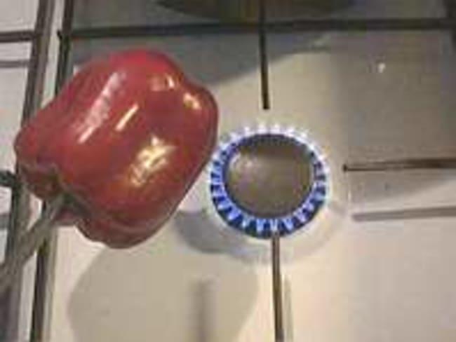 Peler un poivron à la flamme