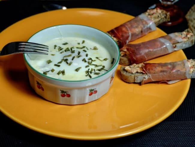Oeufs cocotte au potiron et trois fromages