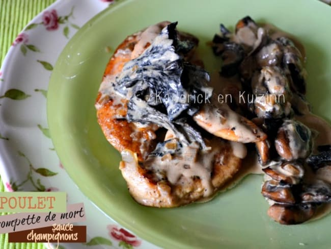 Aiguillettes de poulet aux champignons et sauce à l'estragon