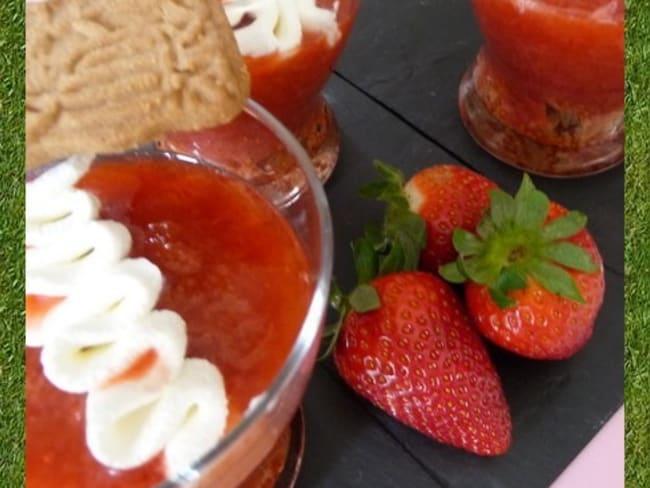 Compotée de fraises-rhubarbe