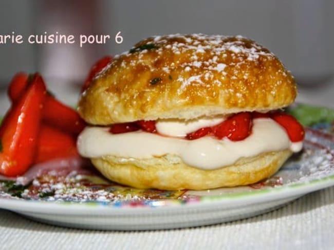 Feuilletés fraises-balsamique