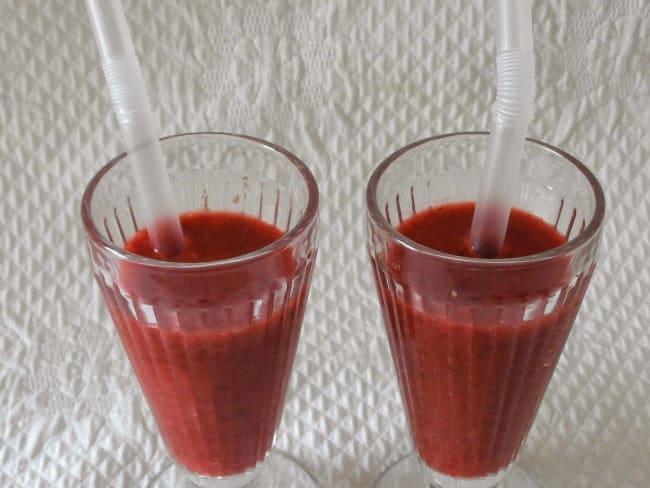 Smoothie fraises cerises